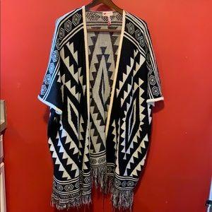 Unique Pattern Open  long Sweater